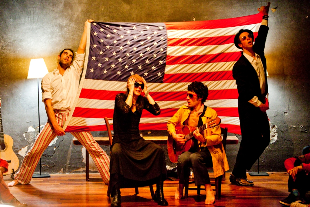 I Am America (2010) – Timothy Hopfner, Marina Gregory, Alejandro Tomás Rodriguez, Lloyd Bricken. Photo by Stefano Roggero.